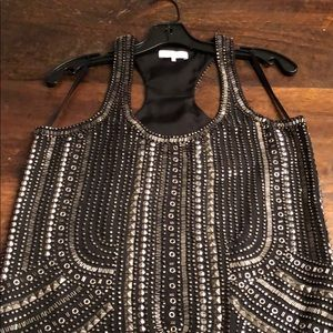 Gorgeous PARKER beaded cocktail dress